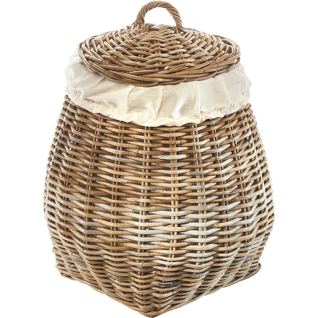 locker Wäschekorb »Pear«, mit abnehmbarem Deckel