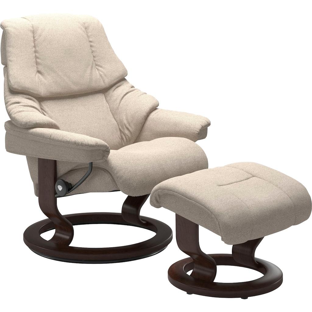 Stressless® Relaxsessel »Reno«, mit Classic Base, Größe S, M & L, Gestell Braun