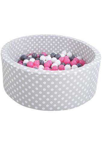 Knorrtoys® Bällebad »Soft, Grey white dots«, mit 300 Bällen creme/grey/rose; Made in... kaufen