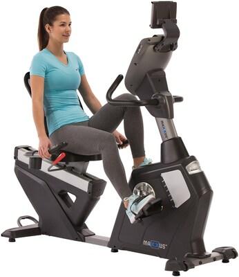 Sitz-Ergometer mit hoher Rückenlehne