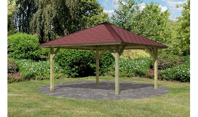 Karibu Pavillon »Holm 1«, BxT: 431x431 cm, inkl. Dachhaube, Dachschindeln und... kaufen