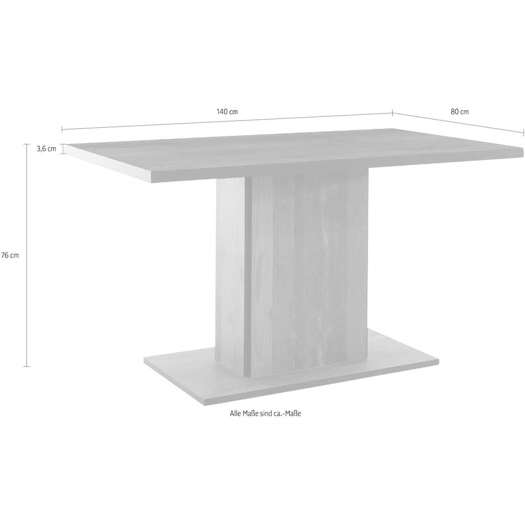 HELA Säulen-Esstisch »Marta T«, Breite 140 cm