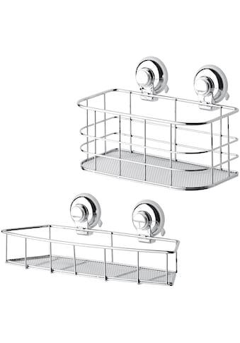 GSW Duschablage »HOOKIE System®«, (Set, 2 St.), Intelligenter Saughaken, roter Ring... kaufen