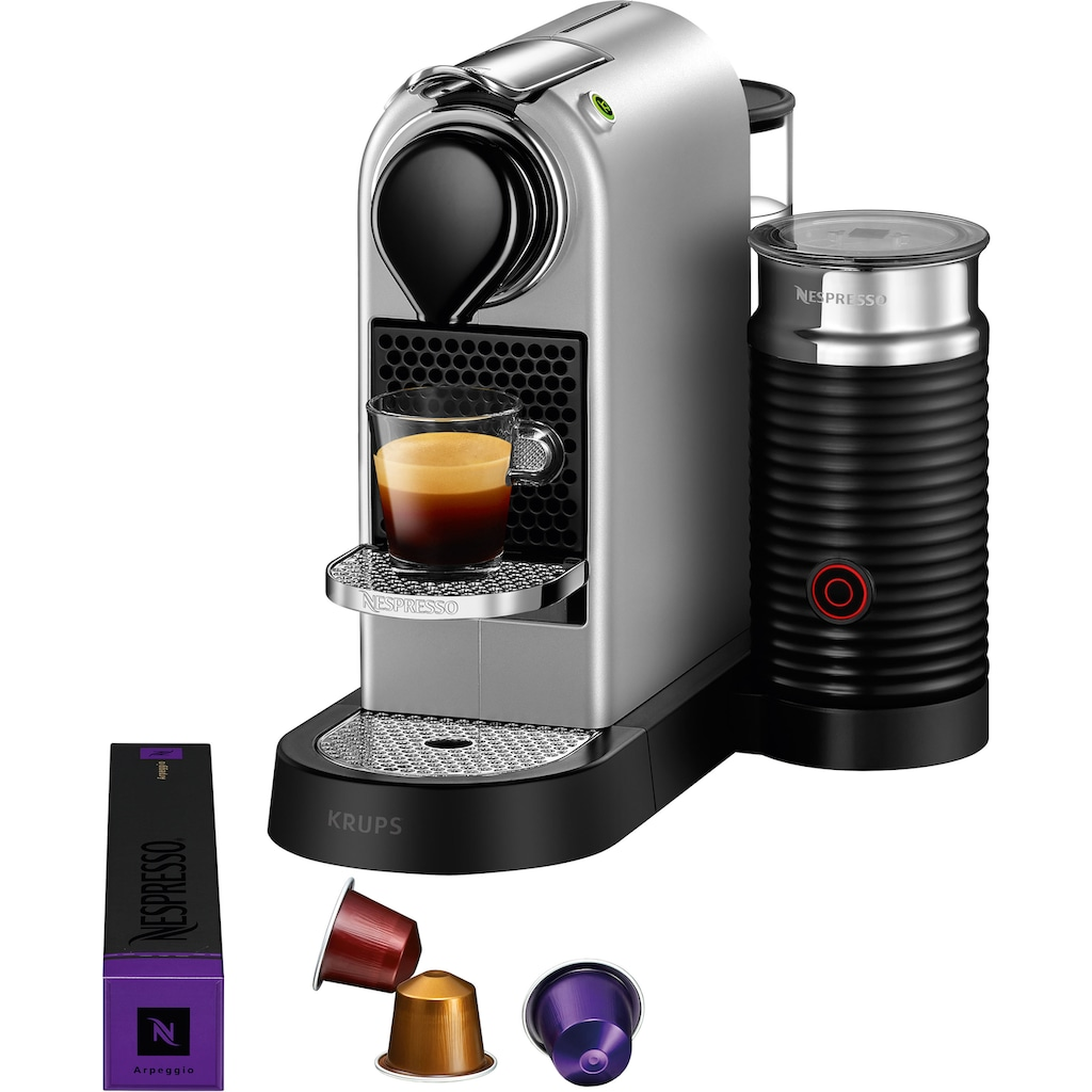 Nespresso Kapselmaschine »XN761B New CitiZ & milk«, mit Aeroccino Milchaufschäumer, 19 bar