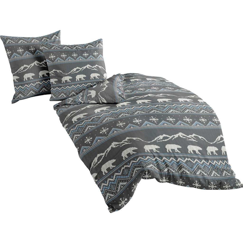 BIERBAUM Bettwäsche »Eisbär«, mit winterlichen Motiven