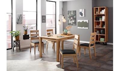 Home affaire Essgruppe »Soeren 2«, (Set, 5 St., Tisch 140/90 cm, 4 Stühle,... kaufen