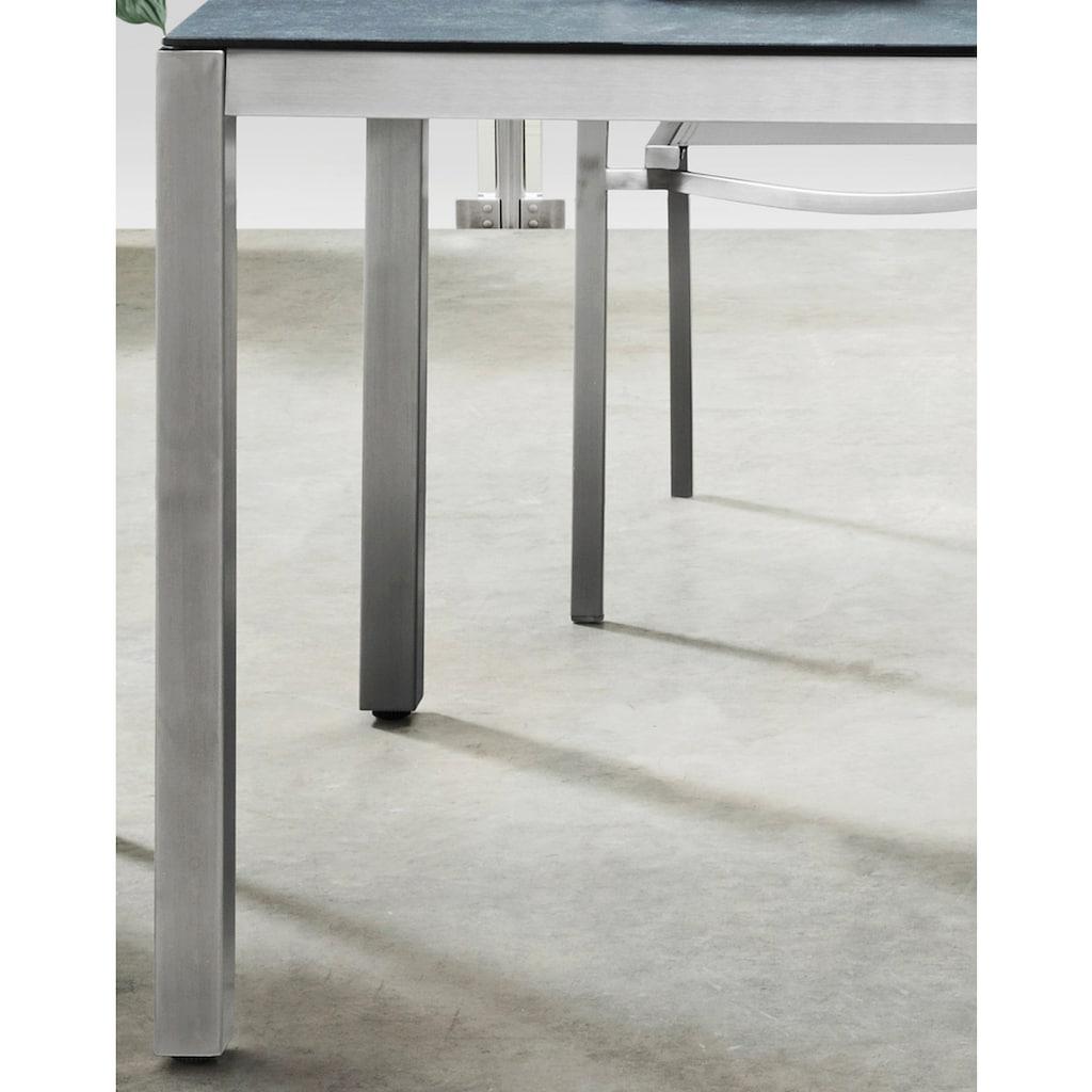 Destiny Gartentisch »Sao Paulo«, BxTxH: 100x210x74 cm, Aluminium/Glaskeramik