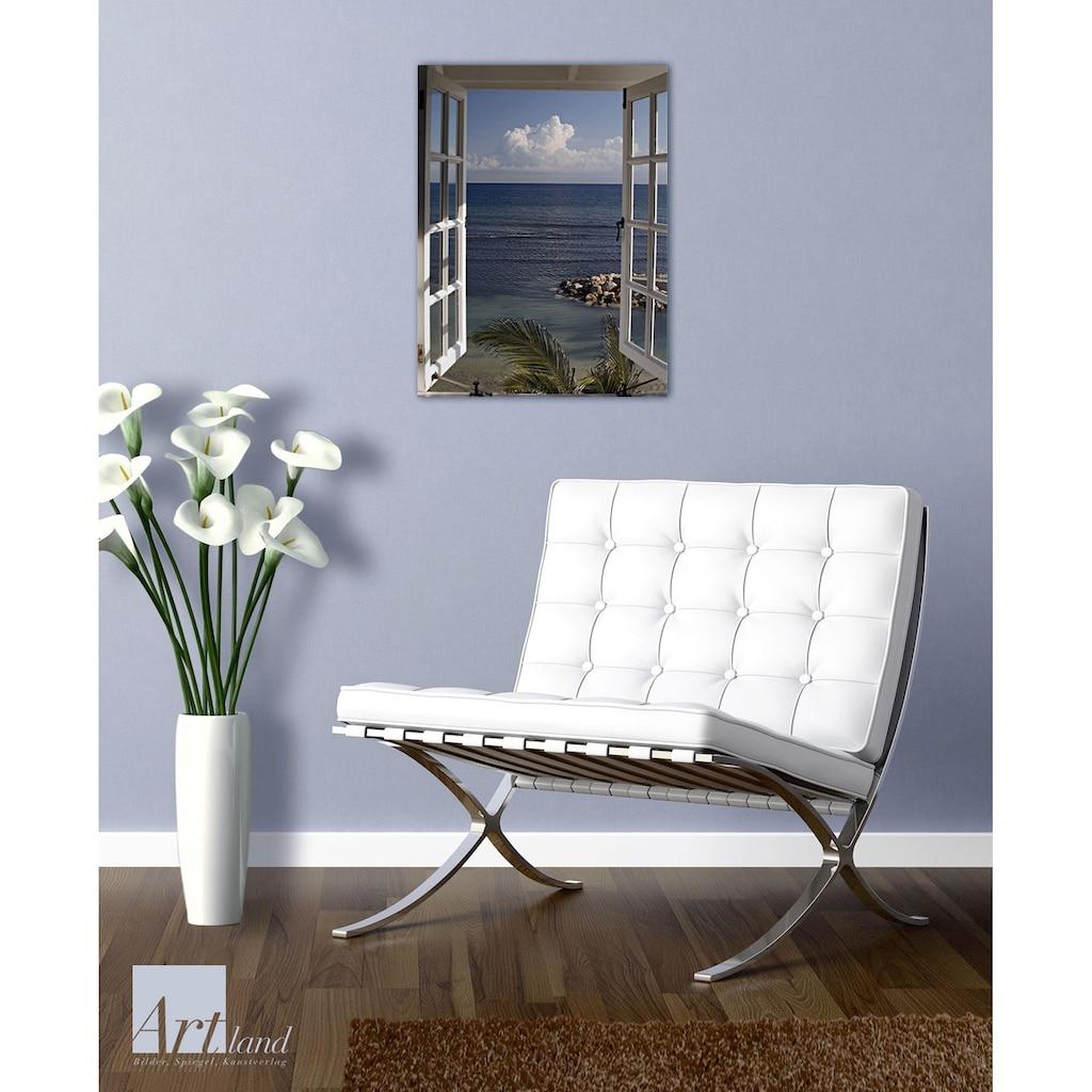 Home affaire Glasbild »Fenster mit Ausblick«