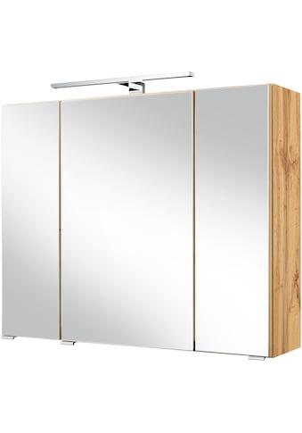 HELD MÖBEL Spiegelschrank »Malibu«, Breite 80 cm, mit LED - Beleuchtung kaufen