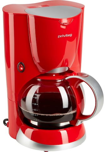 Privileg Filterkaffeemaschine »747528«, Papierfilter, 1x4, Max. 1080 Watt, rot kaufen