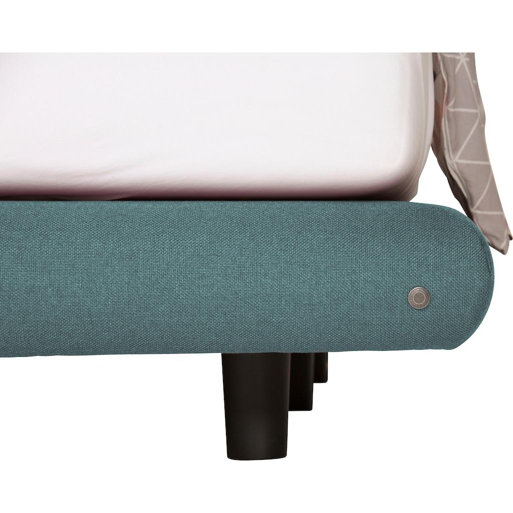 TOM TAILOR Boxspringbett »SOHO PILLOW BOX«, in Schwebeoptik, Kopfteil in Kissenform mit TOM TAILOR Knopfprint, Höhe 120 cm