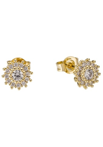 Firetti Paar Ohrstecker »glamourös, glänzend, massiv, rund«, mit Zirkonia kaufen