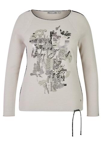 Rabe Rundhalspullover, in Uni-Design mit Glitzerdetails kaufen