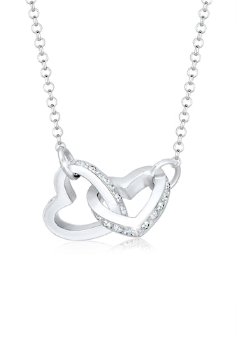Elli Collierkettchen »Herz Verbunden Kristall 925 Silber« kaufen