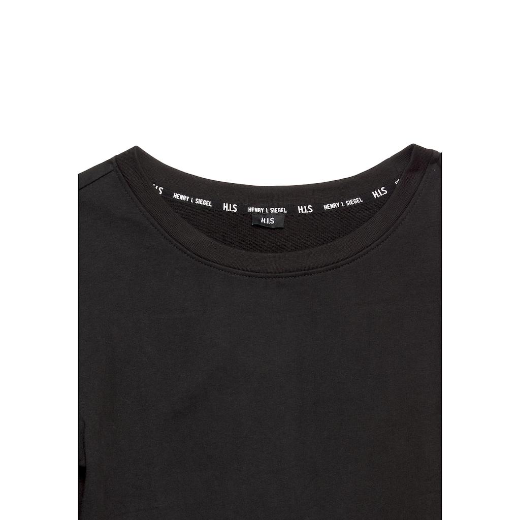 H.I.S Sweatshirt, cropped mit Logo-Tape von H.I.S