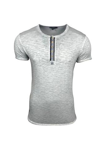 Rusty Neal T-Shirt mit auffälliger Knopfleiste kaufen