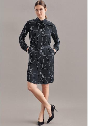 seidensticker Sommerkleid »Schwarze Rose«, Langarm Rundhals Druck kaufen