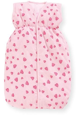 Pinolino® Puppen Schlafsack »Herzchen, rosa«, Made in Europe kaufen