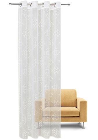 Gerster Vorhang »Debby«, HxB: 235x140, Ösenschal mit Allover Stickerei kaufen