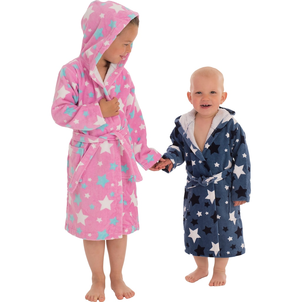 Wewo fashion Kinderbademantel »8207«, mit Sternen