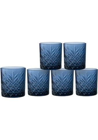 Home affaire Whiskyglas »Dorum«, (Set, 6 tlg.), durchgefärbtes Glas mit dekorativer... kaufen