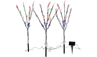 näve,LED Gartenleuchte»LED Außen - Deko - Erdspieß 3er - Set«, kaufen