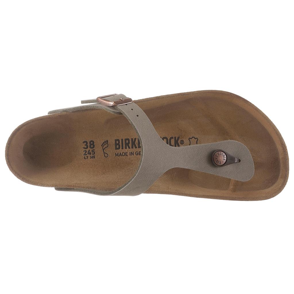 Birkenstock Zehentrenner »GIZEH BF«, mit vorgeformtem Fußbett