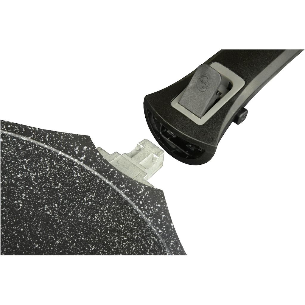 GSW Kasserolle »Easy Click«, Aluminiumguss, (1 tlg.), Ø 16 cm, abnehmbarer Griff, Induktion
