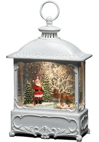 KONSTSMIDE LED Dekolicht, Warmweiß, Wasserlaterne Weihnachtsmann mit Elch, für den... kaufen