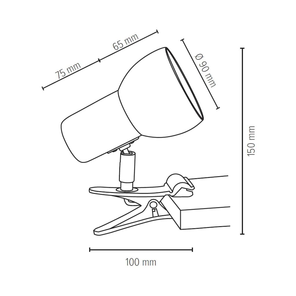 SPOT Light Klemmleuchte »SVENDA«, E27, Naturprodukt aus Massivholz, Nachhaltig mit FSC®-Zertifikat, Mit beweglichem Kopf, Passende LM E27, Made in EU