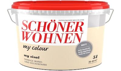 SCHÖNER WOHNEN-Kollektion Wand- und Deckenfarbe »my colour - my sisal«, matt, 5 l kaufen