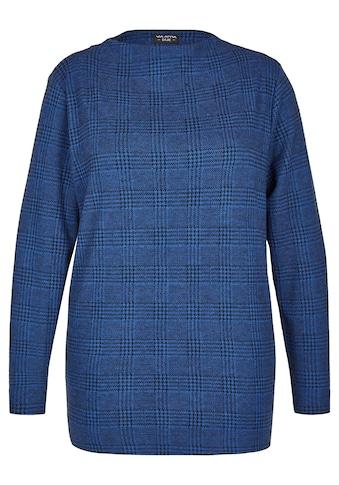VIA APPIA DUE Flauschiges Sweatshirt mit Stehkragen Plus Size kaufen