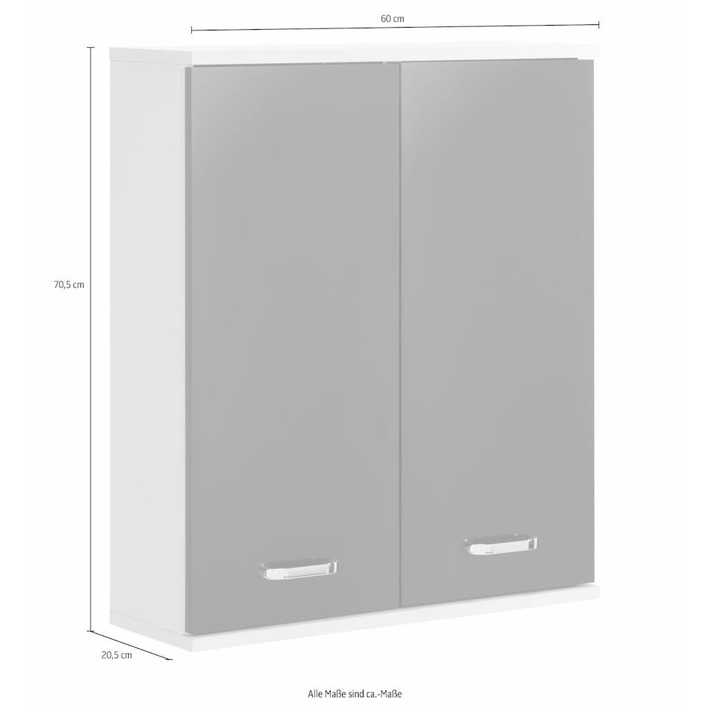 Schildmeyer Hängeschrank »Colli«, Breite 60 cm, Badezimmerschrank mit Metallgriffen, praktische Ablageböden hinter den Doppeltüren