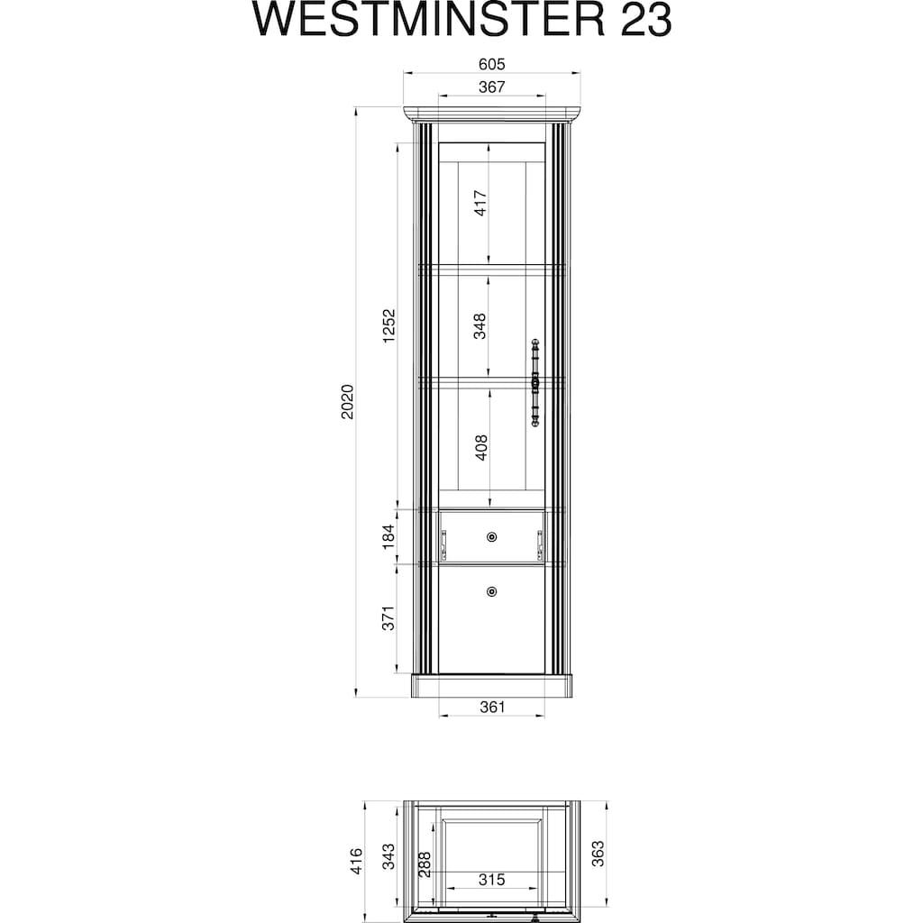 Home affaire Vitrine »Westminster«, im romantischen Landhausstil