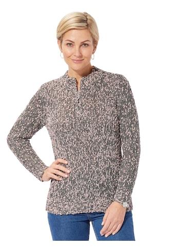 Casual Looks Pullover in schön melierter Bouclé - Qualität kaufen