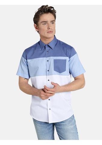 SHIRTMASTER Kurzarmhemd »blockingbeat«, Bowlinghemd mit Kentkragen kaufen