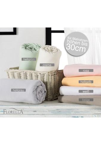Zwirn Jersey Elasthan Spannleintuch mit Rundumgummi, Matratzenhöhe bis 30 cm, Florella kaufen