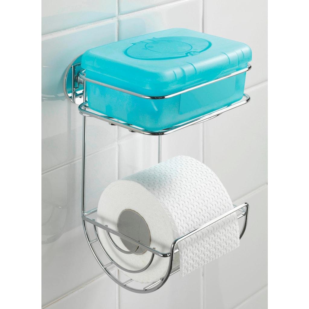 WENKO Toilettenpapierhalter, Turbo-Loc, mit Ablage