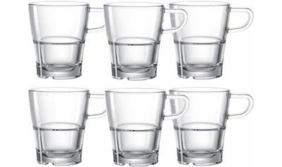 LEONARDO Tasse »SENSO«, (Set, 6 tlg.), Hitzebeständig und widerstandsfähig, 6-teilig kaufen