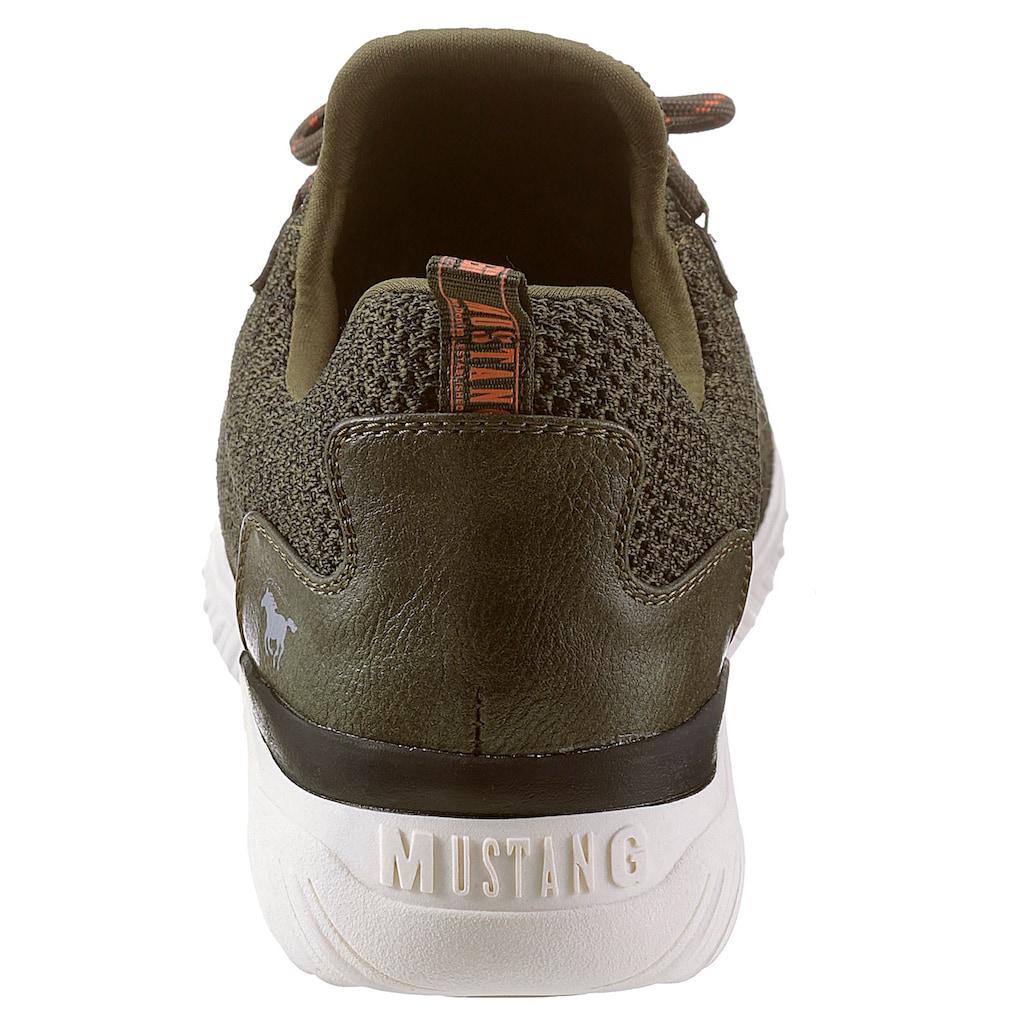 Mustang Shoes Slip-On Sneaker, mit aufgesetzter Schnürung