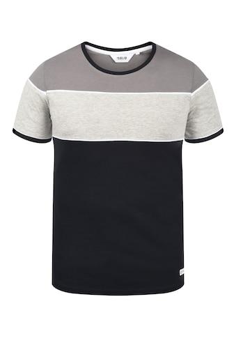 Solid Rundhalsshirt »Cody«, T-Shirt in Colorblocking-Optik kaufen