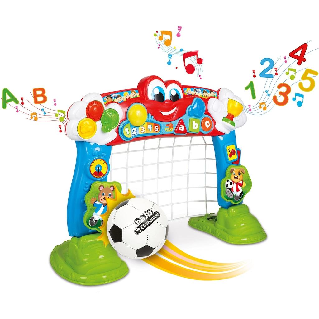 Clementoni® Lernspielzeug »Baby Clementoni - Interaktives Fußballtor«, mit Ball und Lernfunktion