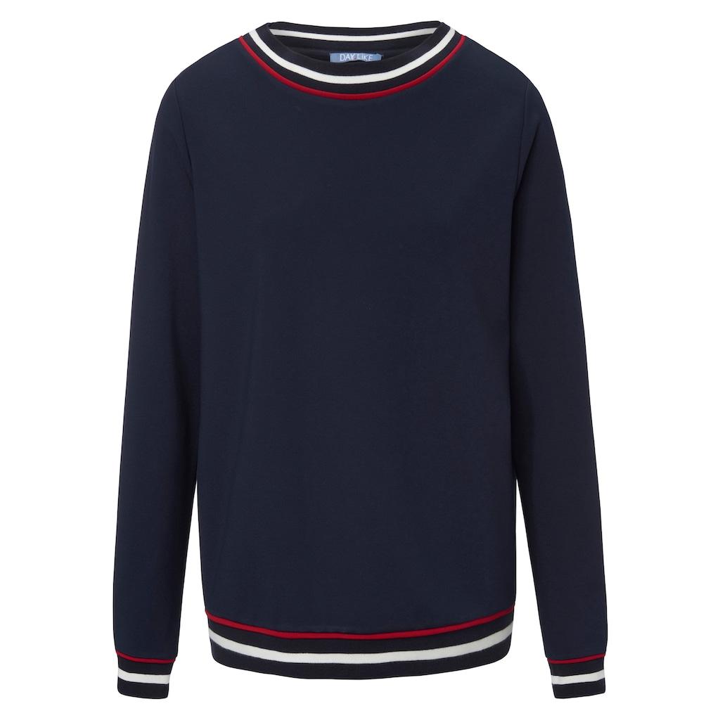 DAY.LIKE Sweatshirt »mit Rundhals-Ausschnitt«