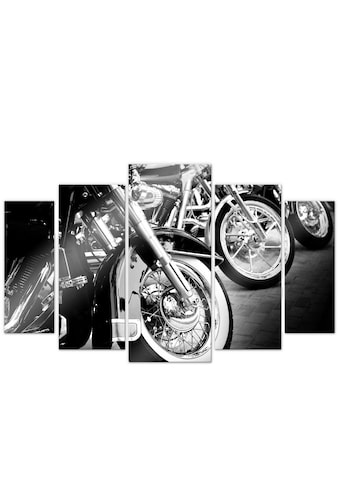 Wall-Art Mehrteilige Bilder »Motorrad Biker Fan (5-teilig)«, (Set, 5 St.) kaufen