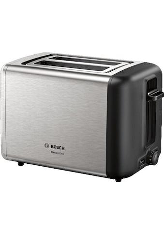 BOSCH Toaster »TAT3P420DE DesignLine Edelstahl«, 2 kurze Schlitze, 820 W kaufen