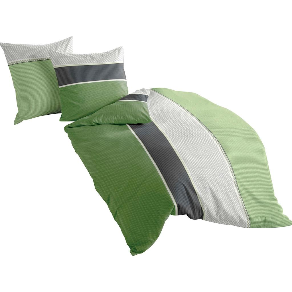 BIERBAUM Bettwäsche »Green Stripes«, mit Streifen