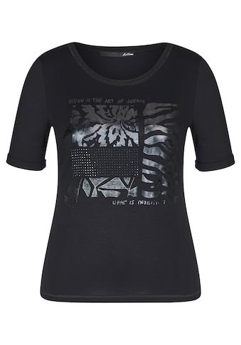 LeComte Print-Shirt, mit Strass-Steinen und Foil-Print kaufen