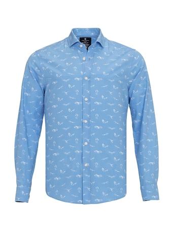 Jimmy Sanders Langarmhemd, Tommaso mit exotischem Allover-Muster kaufen