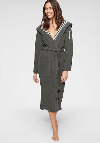 KangaROOS Damenbademantel »Dalia«, außen Unifarben und innen mit Streifen kaufen