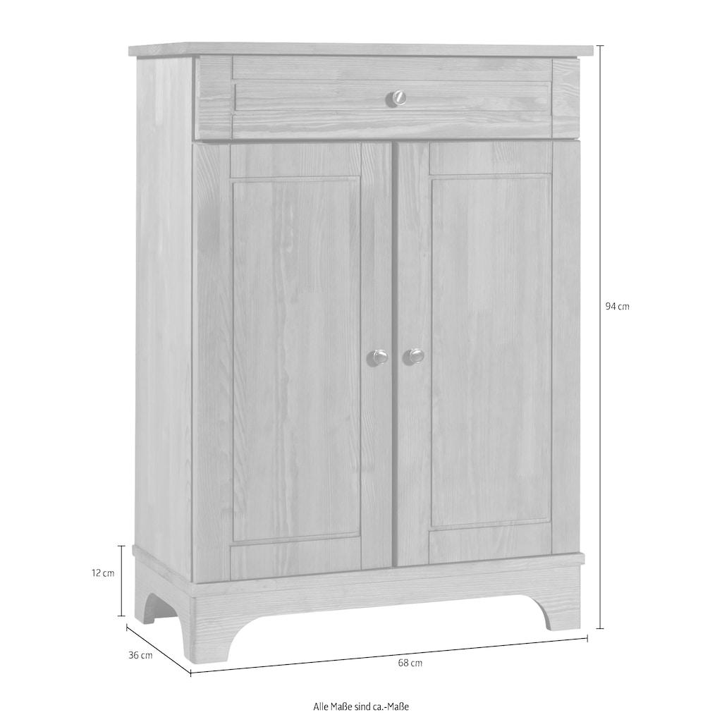 Home affaire Unterschrank »Lecce«, aus Kiefer massiv, Breite 68 cm